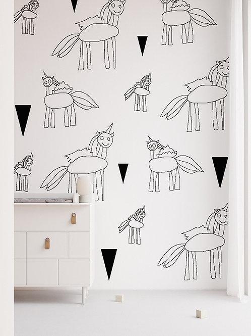 """ Unicorns"" design Ira Fox"