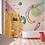 Обои Цирк розовый фон, wallpaper bathroom The O, обои для ванной