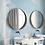 Обои для ванной масляная живопись голубые, wallpaper bathroom The O