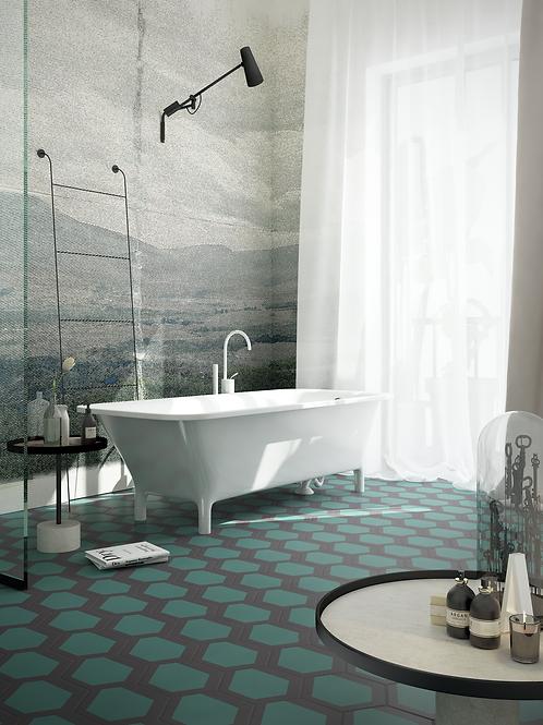 Wallpaper landscape Urbino, wallpaper bathroom The O, wallpaper for the bathroom