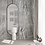 Wallpaper linocut, wallpaper bathroom The O, wallpaper for the bathroom