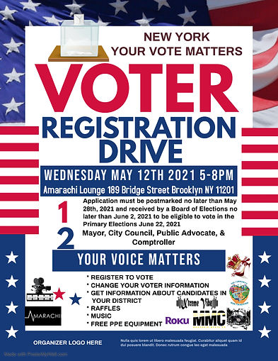 Copy of Voter Registration Flyer - Made