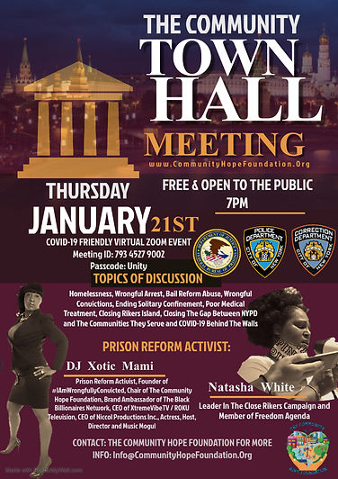 Copy of Copy of Town Hall Meeting Flyer