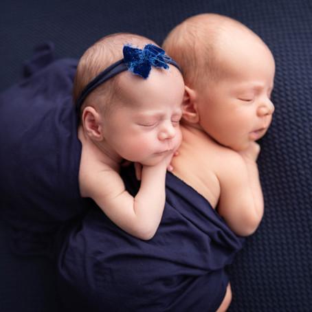 Jumeaux, séance photo nouveau-né
