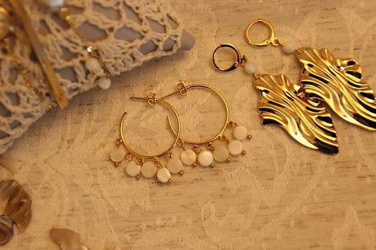 Boucles creoles bijoux boheme