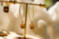 boucles d'oreilles fleurs pendantes