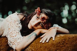 couronne de fleurs bohèmes