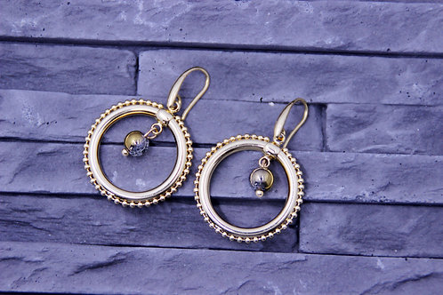 Créoles TAHITI perles or gris