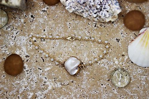 Bracelet chaîne GROSEILLE blanc