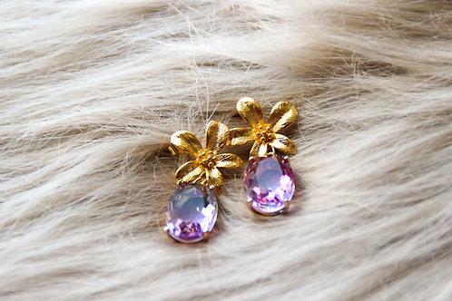 Boucles PRÉCIEUSE violet rose
