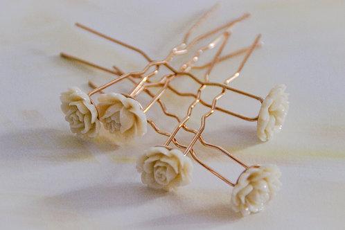 Épingles à cheveux fleurs - 2