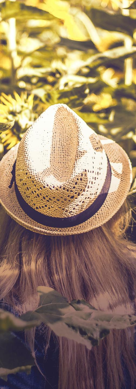 femme chapeau bohème