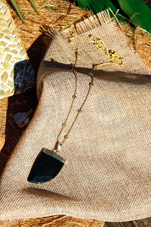 Collier OASIS Agate noire
