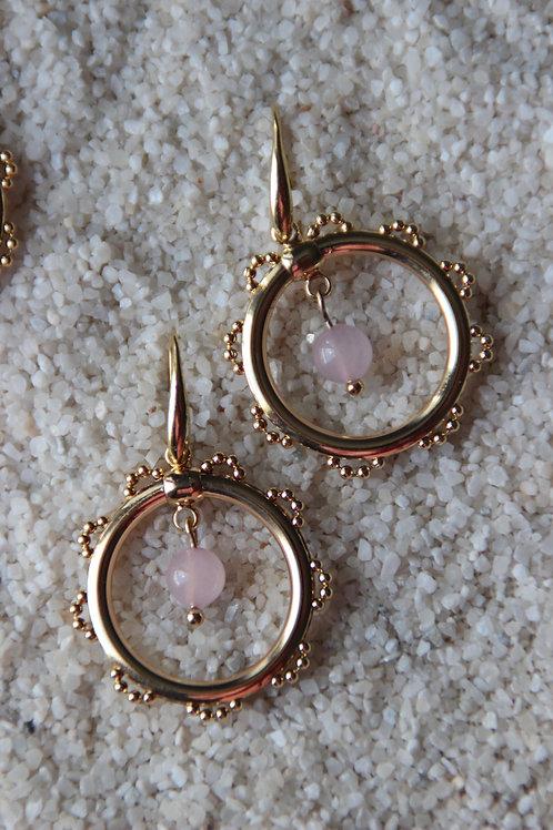 Créoles HAWAI rose quartz