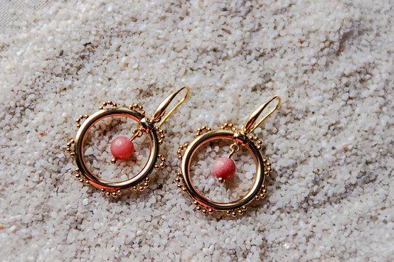 Créoles HAWAI rose opale