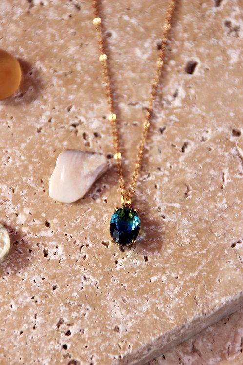 Collier DITA bleu vert