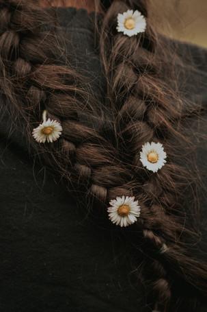 tresses fleurs