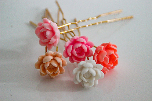 Épingles à cheveux fleurs - 1