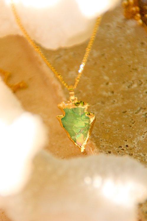 Collier GOLDEN green