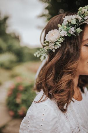 couronne mariage fleurs bohème