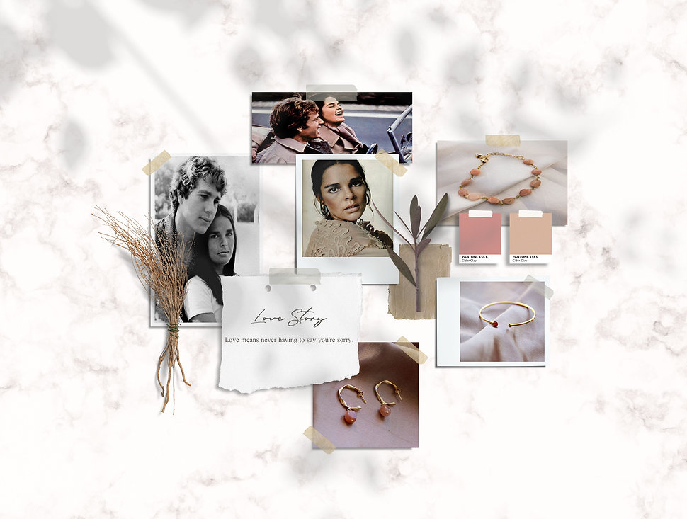 love story moodboard La Parisienne des i