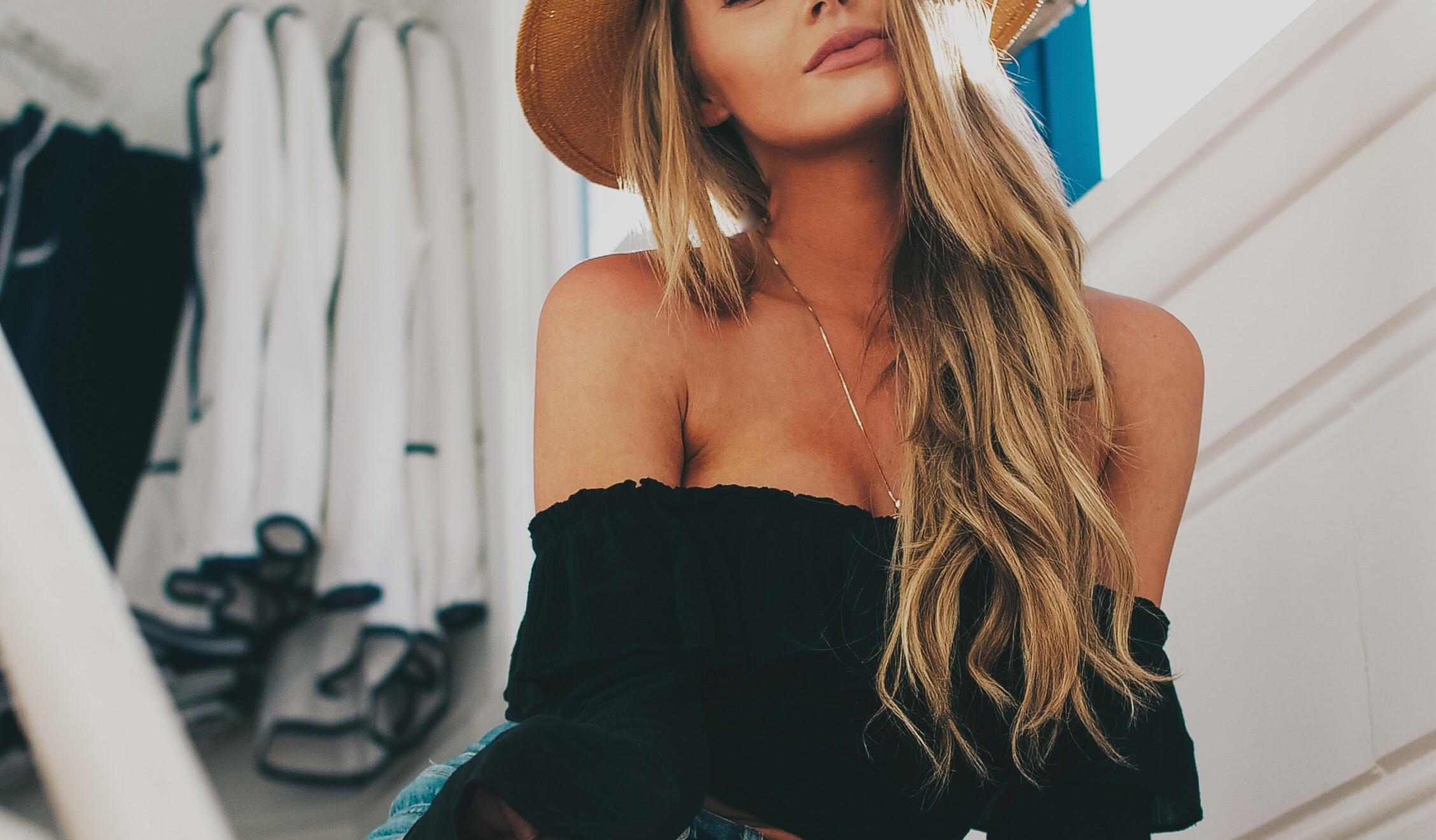femme blond californien