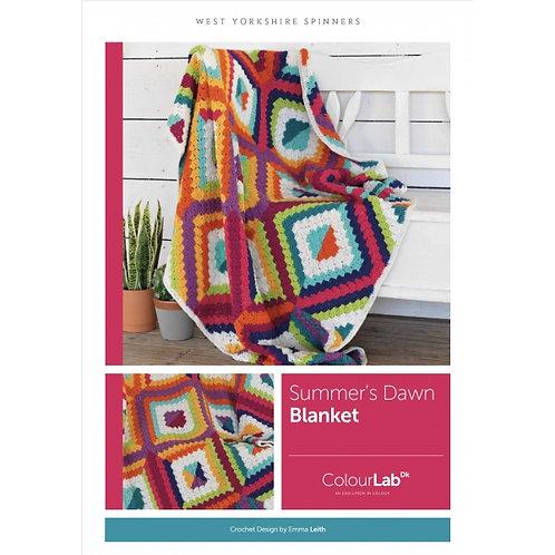 WYS Summer's Dawn Crochet Blanket Pattern