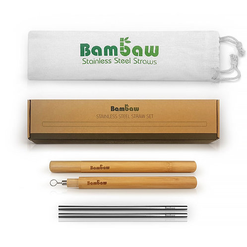 Stainless Steel Reusable Straw Kit