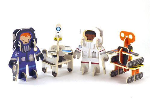 Playpress Astronaut & Robots Character Set