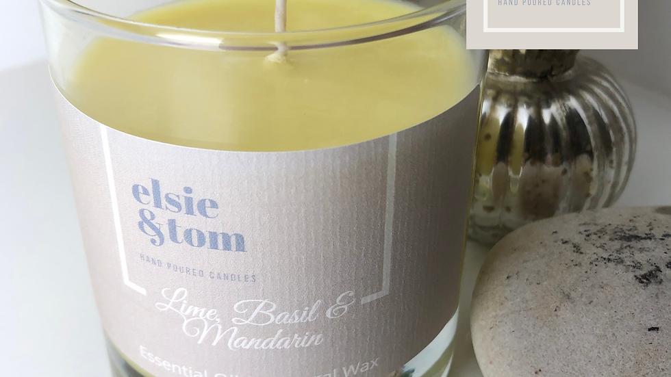 Lime, Basil & Mandarin Essential Oil Candle