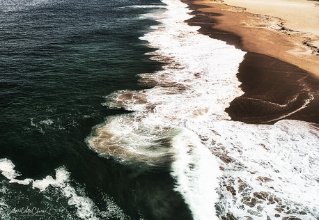 High contrast shoreline, Orange County California Aerial Photograph
