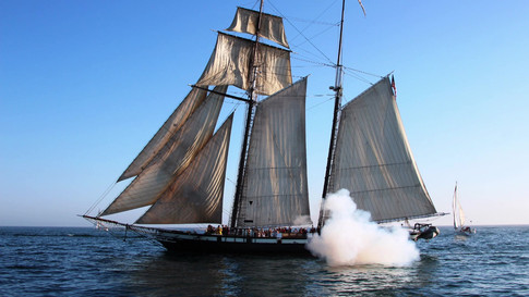 Aerial Photography and Videography of the Pilgrim Tall Ship in Dana Point, California