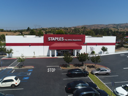 Aerial Photograph of a commercial property in Anaheim Hills, CA