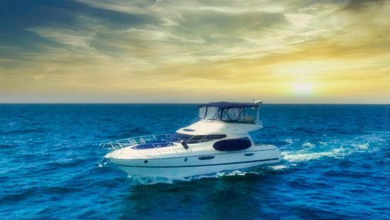 Commercial yacht aerial drone photograph, Dana Point, California