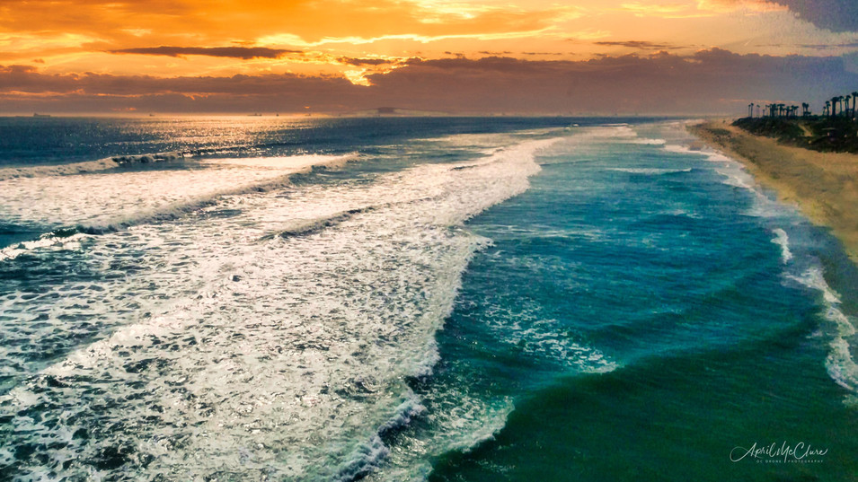Surf City Sunset - Aerial Photograph