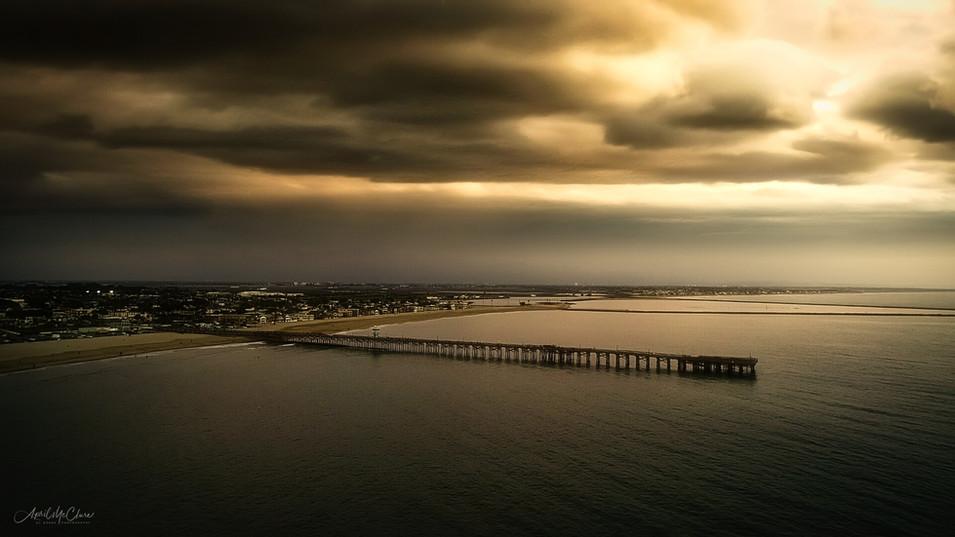 Aerial Photograph of Seal Beach Pier