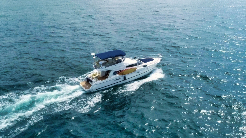 Yacht Aerial Photography of on-water boat action