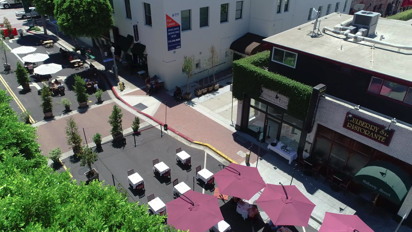 Aerial Photography of The Walk on Wilshire in Fullerton, California
