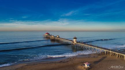 Huntington Beach Pier Aerial Photography