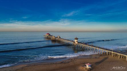Huntington Beach Pier Aerial Photography