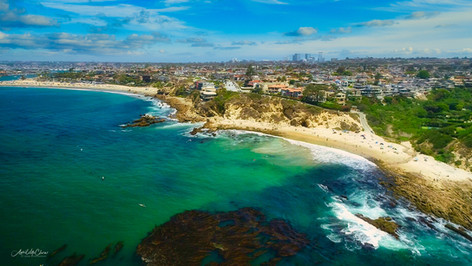 Orange County Coastline Aerial Photography using drones