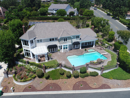 Aerial Photograph of Real Estate in Orange County, California