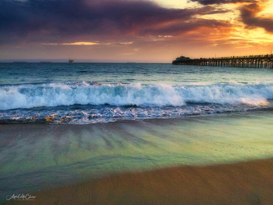 Sunset wavebreak in Southern California