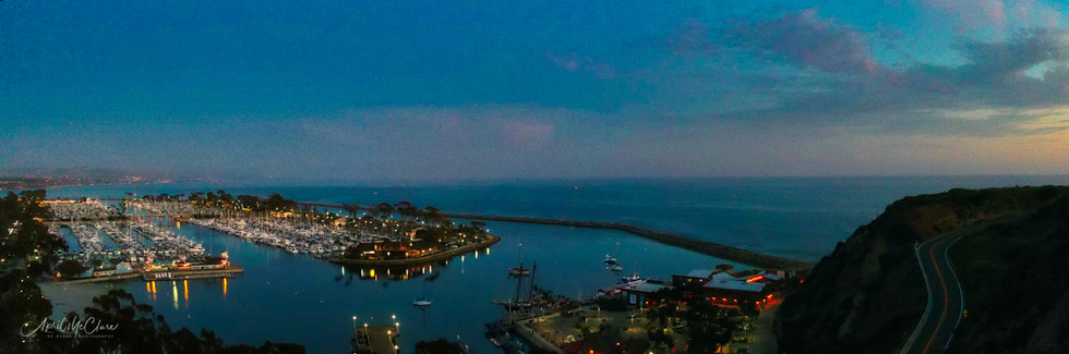 Aerial Panorama of Dana Point Harbor in Southern California