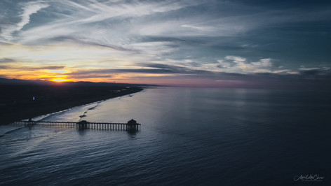 Sunrise in Southern California Aerial Photograph