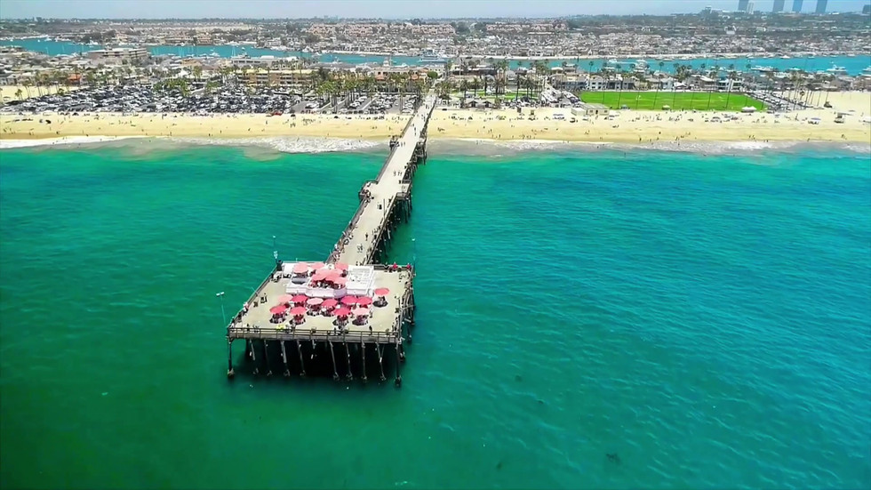 Orange County Coastal Aerial Videography Tour