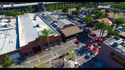 Aerial Photography of The SOCO District in Fullerton, California