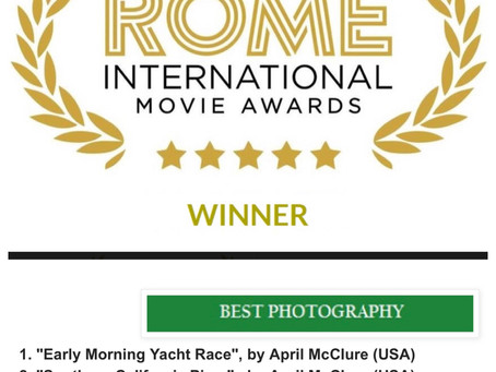 Rome Italy International Movie Awards - WINNER - April McClure, Owner of OC Drone Photography