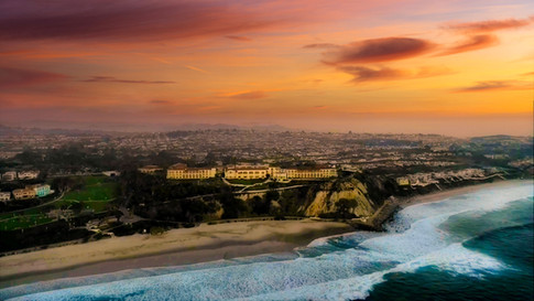 Aerial Sunset Photograph of the Ritz Carlton in Laguna NIguel, CA