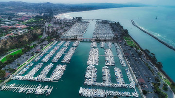 Aerial Photograph of the Dana Point Marina, Dana Point California